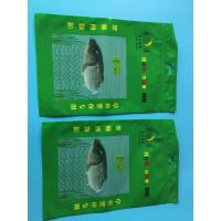 Quality Custom Printed Green 3 Sided Sealed Composite Fish Bag With Transparent Window In Front for sale