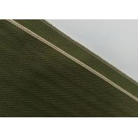 Quality Woven Army Green Herringbone Flannel Fabric , 12.4oz Denim Raw Material For Jeans for sale