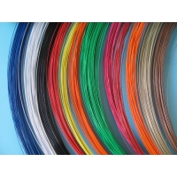Quality Round 0.35mm Color Coated Wire White Black Surface Zinc Coating for sale