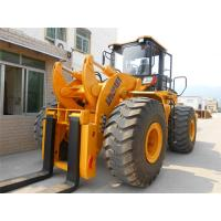 Quality Flameproof 22 Ton Outside Forklift Front End Loader With Steel Coil Fork for sale