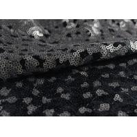 Quality Golden Black Sequin Lace Fabric With 3D Embroidery Fabric For Party Gown Dresses for sale