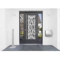 Buy cheap 22*64 Inch Wrought Iron Security Doors Glass Agon Filled Shaped Wrought Iron Exterior Doors from wholesalers