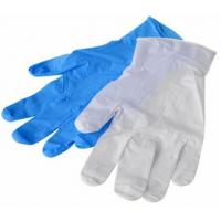 Quality Commercial  Clear Pvc Gloves , Blue Disposable Gloves Powder Free / Powded for sale