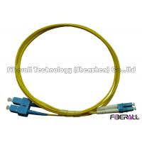 Quality SC To LC Fiber Patch Cable , Optical Fiber Patch Cord SM Duplex With Pulling Eye for sale