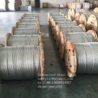 Buy cheap Non - Alloy Galvanized Steel Core Wire , Stiffness 3 16 Galvanized Steel Cable from wholesalers