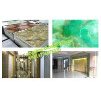 Quality Low cost, easy installation PVC marble wall panel extrusion and laminating production line for sale