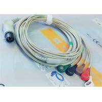 Quality M&B 6 Pin Snap AHA ECG Patient Cable For Medical Equipment , Electrode Lead Wires for sale