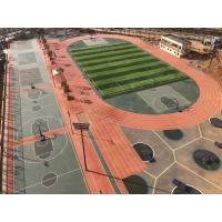 Quality High Elasticity Rubber Exercise Flooring , All Weather Synthetic Track Surface for sale