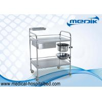 Protection Guardrails Stainless Steel Instrument Trolley With One Drawer One Bucket