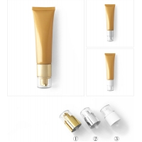Quality Hotel 125ml Biodegradable Plastic Cosmetic Tubes With Screw Cap for sale