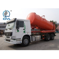 Quality 16M3 Sewage Suction Truck 6X4 EURO II Option 290HP / 336HP Left And Right Hand Drive for sale