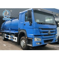 Quality 8 Ton Liquid Tanker Truck , 290hp Euro 3 SINOTRUK HOWO 4*4 Sewage Suction Tanker Truck for sale