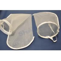 China High Removal Efficiency Nylon Filter Bags , Filter Media Bags With Steel Ring on sale