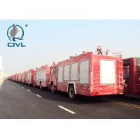 Quality Sinotruk Fire Fighting Vehicles 4600mm wheelbase Red Flame On Road 6X4 / 4X2 for sale