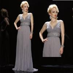 Quality Elegant Sheath Chiffon Evening Dress (LP069) for sale