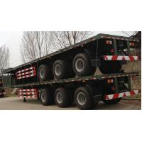 China 40 Ton 2/3/4 Axle Low Flatbed Trailer Truck Bed Tractor Trailer Trucks on sale
