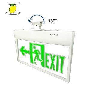 China LED Emergency Exit Sign Light Emergency Lights Acrylic Model Double Size High brightness Multi Angle Rotation on sale