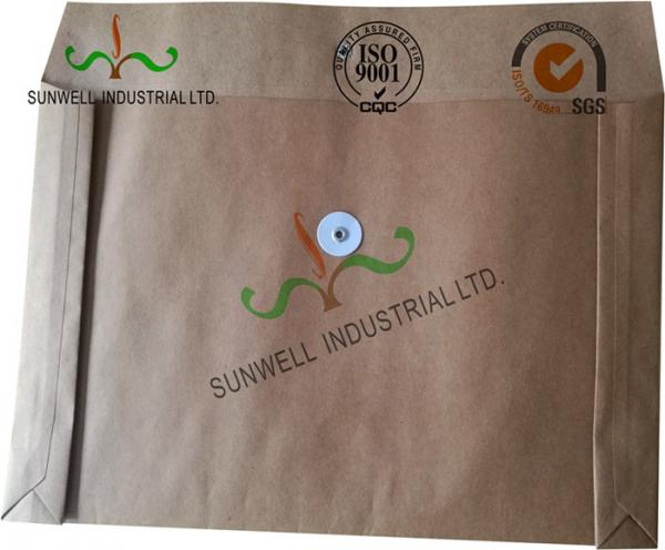 Buy Kraft Paper Custom Printed Business Envelopes With String Closure Accordion Shape at wholesale prices