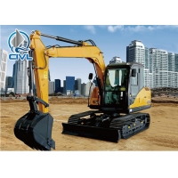Quality Xcmg XE35U Mini Excavator 3 Ton / Small Excavation Equipment Yellow Color for sale