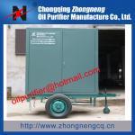 Quality Mobile Type Vacuum Transformer Oil Purification Machine,Car wheel trailer oil purifier for sale