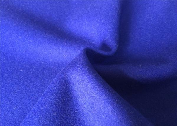 Buy Make - To - Order Shappire Blue Wool Herringbone Fabric Eco - Friendly at wholesale prices