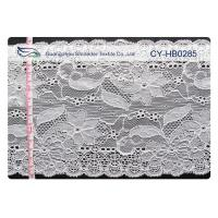 Buy cheap Water Soluble Elastic Lace Fabric , Stretchable Lace Trim SGS CY-HB0285 from wholesalers