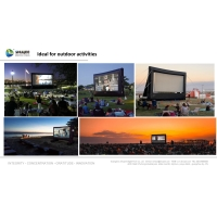 Quality Outdoor Inflatable Movie Screen Removable Portable Air Projector Screen for sale