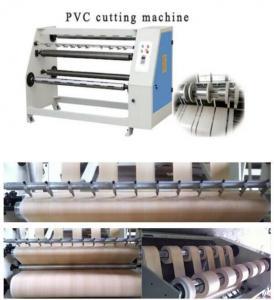 Quality wooden grain decorative kitchen pvc foil film cutting machine for sale