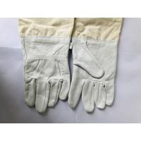 Quality Durable White Sheepskin Sting Proof Gloves With White Wide Elastic Cuff for sale