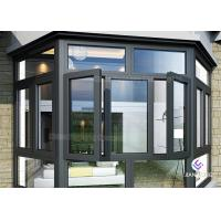 China Powder Coating Frames Aluminium Windows And Doors With Mosquito Nets on sale