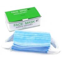 Quality Elastic Closure Disposable Blue Mask , Disposable Mouth Mask Moisture Proof for sale