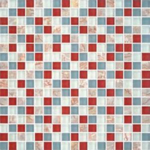 "China 5/8""X5/8"" Glass Stone Blend Mosiac Kitchen Tiles on sale"