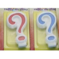 Quality !Question Mark !White Egde Question Mark Shape Candles  with 2 Colors Filling-in for sale