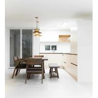 Buy cheap Milk White Paint Cabinet Hand-free Cabinet L Kitchen Cabinet Customized Supply from wholesalers