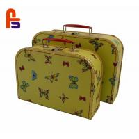 Buy cheap Beautiful Cardboard Suitcase Box Offset Printing With Handle And LockCardboard from wholesalers