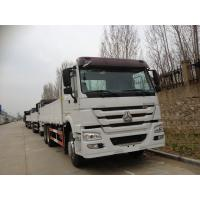 Quality 40 Ton Euro II ZF8098 Steering Sinotruk Howo7 Heavy duty Cargo Trucks with 10tires LHD336HP Sigle bed for sale