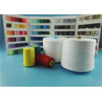 Buy OEKO-TEX Plastic Cone Raw White Spun Polyester Yarn 100% Polyester Sewing Thread at wholesale prices