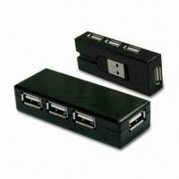Buy cheap Four Ports USB Hub with 2.0 and 1.1 USB Versions from wholesalers
