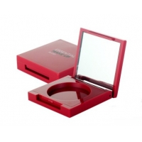 Quality Square Powder Compact Cheek 51mm 13mm Empty Blush Container for sale