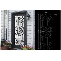 Buy cheap most durable  Wrought Iron Glass For Door  Agon Filled 22*64inch Size Shaped  crafted from wholesalers