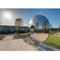 Quality Morden Highly Polished Stainless Steel Sculpture Torus For Lawn Featuring for sale