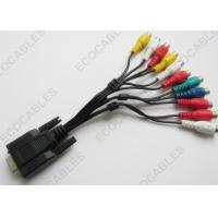 Quality TV Signal Cable D - SUB 15pin Female To 11 RCA Female Cable For TV /  DVD for sale