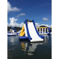 Buy cheap Bounica Floating Inflatable Water Slide With Big Stainless Steel Anchor Ring from wholesalers