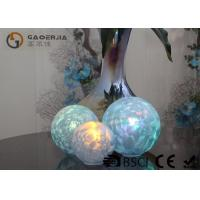 Quality Set Of 3 Glass Ball Lights Surface With Ice Like Finish OEM / ODM Available for sale