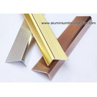 Quality Anti Slippery Aluminum Stair Nosing / Edging / Brace With 45mm X 20 mm for sale