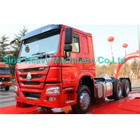 Quality SINOTRUK Howo 6X4 Prime Mover Truck 371HP , Red Unloading Trucks , Color Can Be Selected for sale