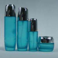 Buy cheap 30g Amazed Glass Lotion Bottles And Jar Sea Bule Color High Quality from wholesalers
