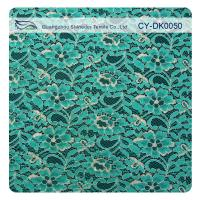 Buy cheap Green Metallic Guipure Lace Fabric , Nylon Cotton Fabric Flower Lace from wholesalers