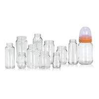 Quality Heat Resistant  Nipple 200ml Borosilicate Glass Baby Bottle for sale