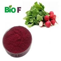 Quality Anthocyanin Natural Pigment Powder Red Radish Root Extract For Beverages for sale